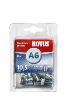 A6 4 x 10,5 mm M4 alu 10 pcs