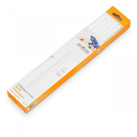 Bâtons de colle blanche Ø 11 mm 10 pces (250 g)