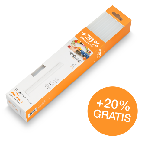 Bâtons de colle transparente Ø 11 mm 600 g 20 pces (600 g)