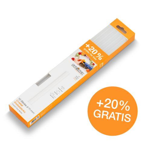 Bâtons de colle transparente Ø 11 mm 300 g 10 pces (300 g)