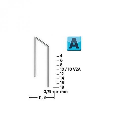 Modéle A 53/12 mm extra-dur zinguée 1000 pcs