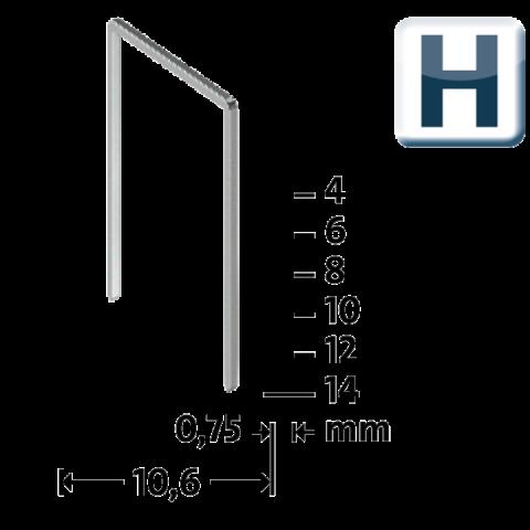 Modéle H 37/4 mm extra-dur zinguée 2000 pcs