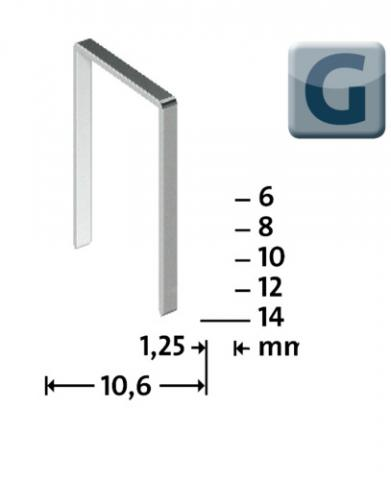 Modéle G 11/10 mm zinguée 600 pcs 600 p.