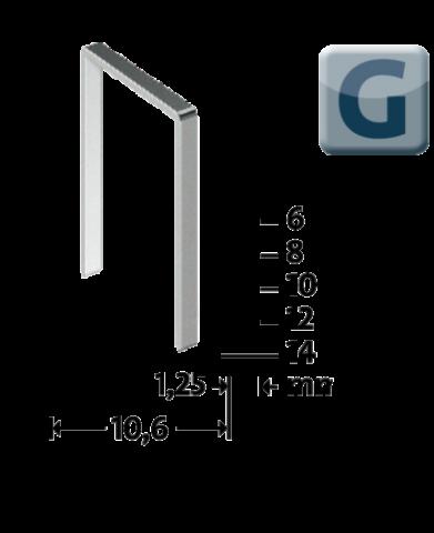 Modéle G 11/8 mm zinguée 1200 pcs 1200 p.