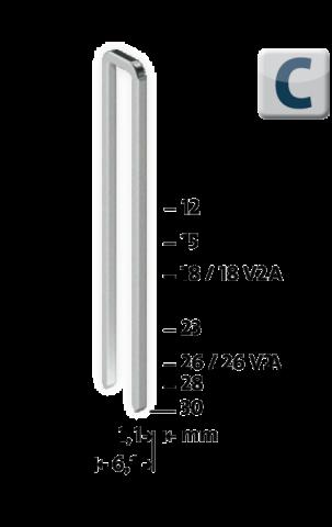 Modèle C 4/30 mm zinguée 1100 pcs