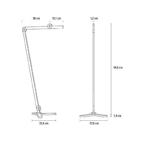 Le lampadaireMOOOVE anthracite