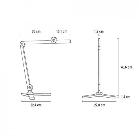 La lampe de table sur pied MOOOVE 46,6 cm